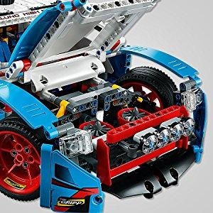 lego technic jeu de construction la voiture de rallye 42077 jeux et jouets. Black Bedroom Furniture Sets. Home Design Ideas