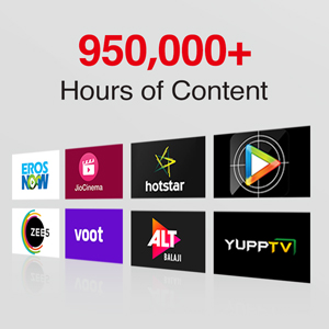 950000+ hours of content