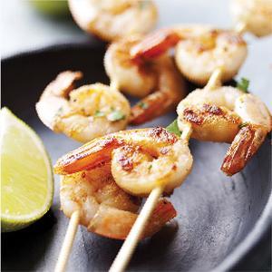 shrimp, skewer