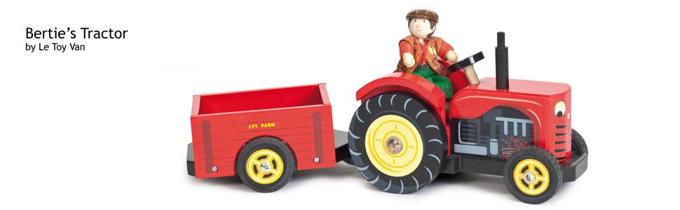 Le Toy Van Berties Traktor Bauernhof Fahrzeuge