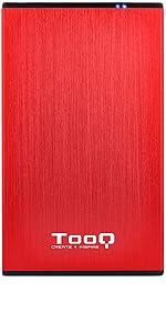 TooQ TQE-2527R - Carcasa para discos duros HDD de 2.5