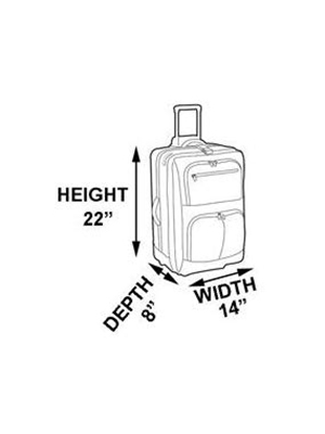 drawing, measurements, carry on bag, carry on dimensions