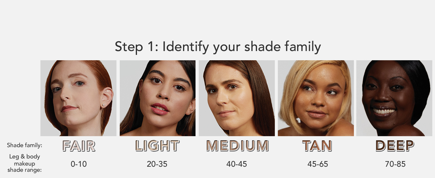 shade family dermablend leg & body makeup coverage