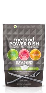 method dishwasher detergent packs