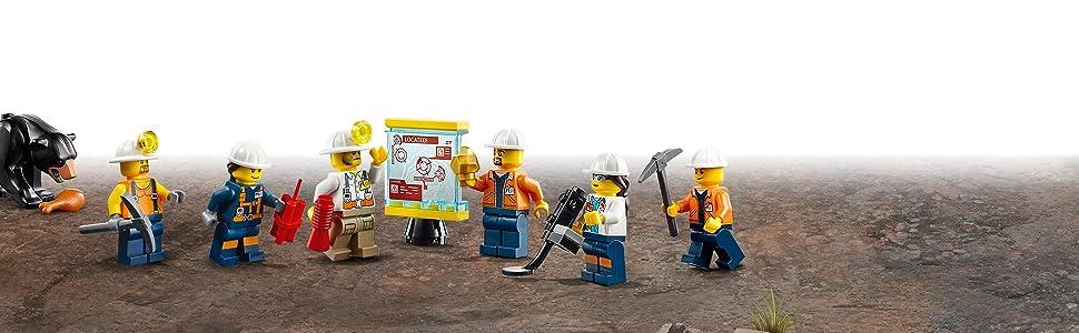 miniera, bambini, lego