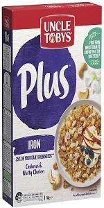 cereal; breakfast; healthy breakfast; tasty breakfast; UNCLE TOBYS; Plus; whole grains; wholegrains