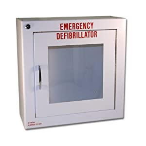 First Voice, AED, wall, cabinet, alarm, storage, sound, wall-mounted