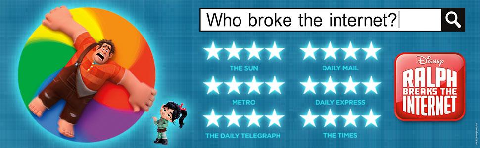 ralph breaks the internet; disney film; disney dvd; disney gift; wreck it ralph