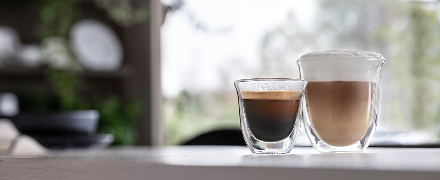 Varietà bevande, espresso, cappuccino
