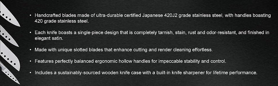 utility knife; knife sharpener; knives sharpener; block knife set; block knives