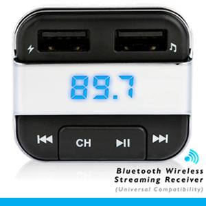 Pyle PBT90 3-In-1 Bluetooth Vehicle FM Transmitter Charger Kit