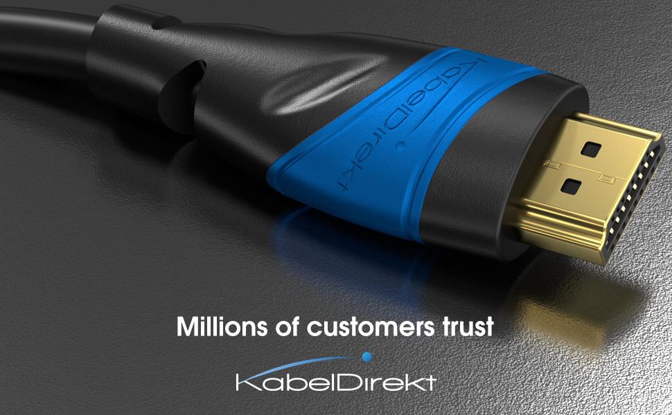 hdmi cable Kabeldirekt 2.0 highspeed arc 4k 60hz gold plated