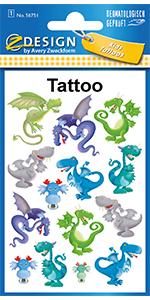 Tattoo kinderen draak