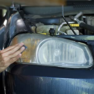 Sylvania headlight restoration kit sand paper polish lens