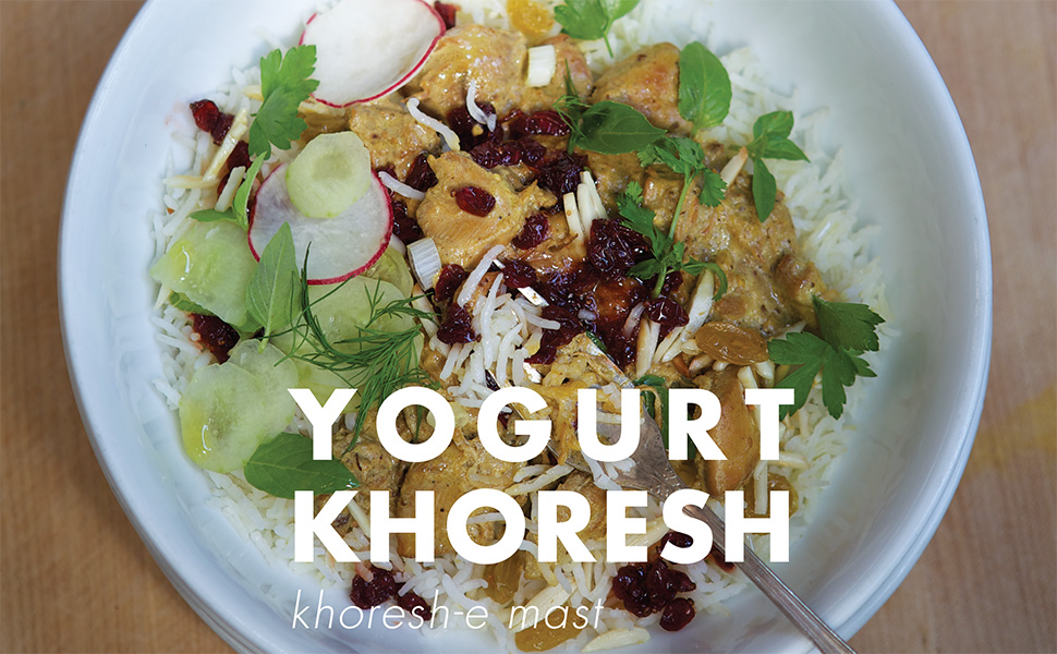 yogurt braise, khoresh, yogurt khoresht, joon, najmieh, persian cooking