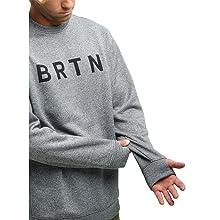 burton mens crew sweatshirt warm hoodie logo mountain