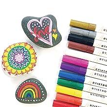 kindness rocks supplies, kindness rocks to paint, love and gelato, love gelato, love rocks, gelato