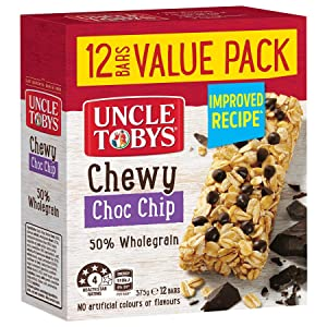 UNCLE TOBYS VALUE PACK MUESLI BARS CHEWY CHOC CHIP