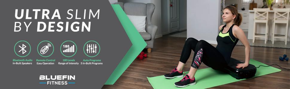 Vibration Plate Platform Fitness Weight Loss Build Strength Ultra Slim Bluefin Toning Massage