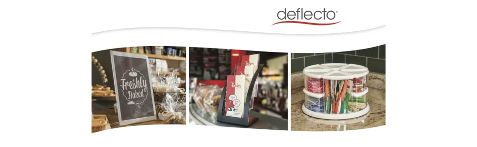 deflecto logo,chairmats,literature displays,office organization,workspace accessories,sign holder