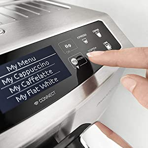My Menu button DeLonghi coffee machines