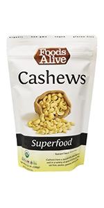 Cashews - Organic, Plant-Based, Non-GMO, Raw, Vegan, Gluten-Free