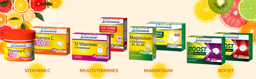 Gamme de produits Vitamine Juvamine