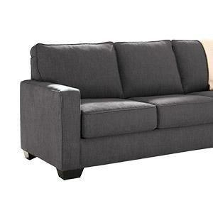 Signature Design by Ashley - Gilmer Contemporary Chenille Upholstered Sofa w/ Accent Pillows, Gunmetal