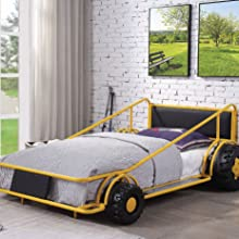 littlest of racers yellow twin bed