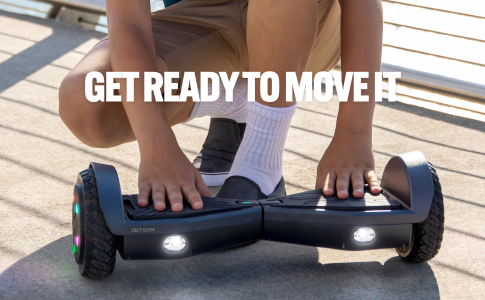 Jetson Aero All Terrain Hoverboard with LED LightsAnti Slip Grip Pads