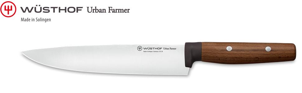 WÜSTHOF Kochmesser, Urban Farmer (1025244820), 20 cm Klinge, Griff aus Buche, rostfreier Edelstahl, sehr scharfes Messer für Stadtgärtner