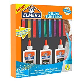 how to make glitter slime with elmers clar glue