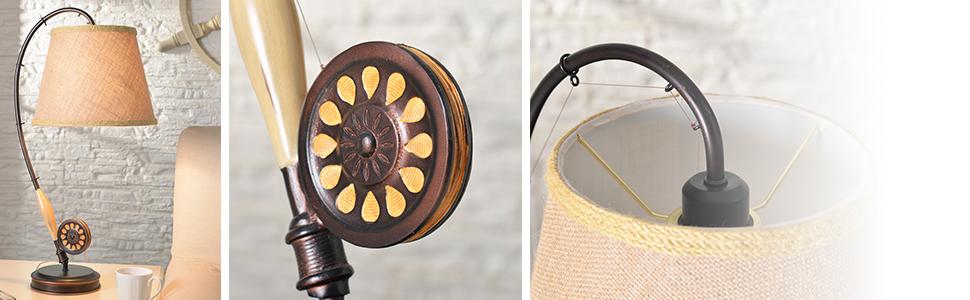Amazon.com: kenroy Home con mosca lámpara de mesa – BRONCE ...