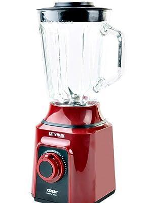 Batidora Americana de vaso de cristal fundido termo resistente y 4 cuchillas 3D. Batimatic Turbo 500: Amazon.es: Hogar