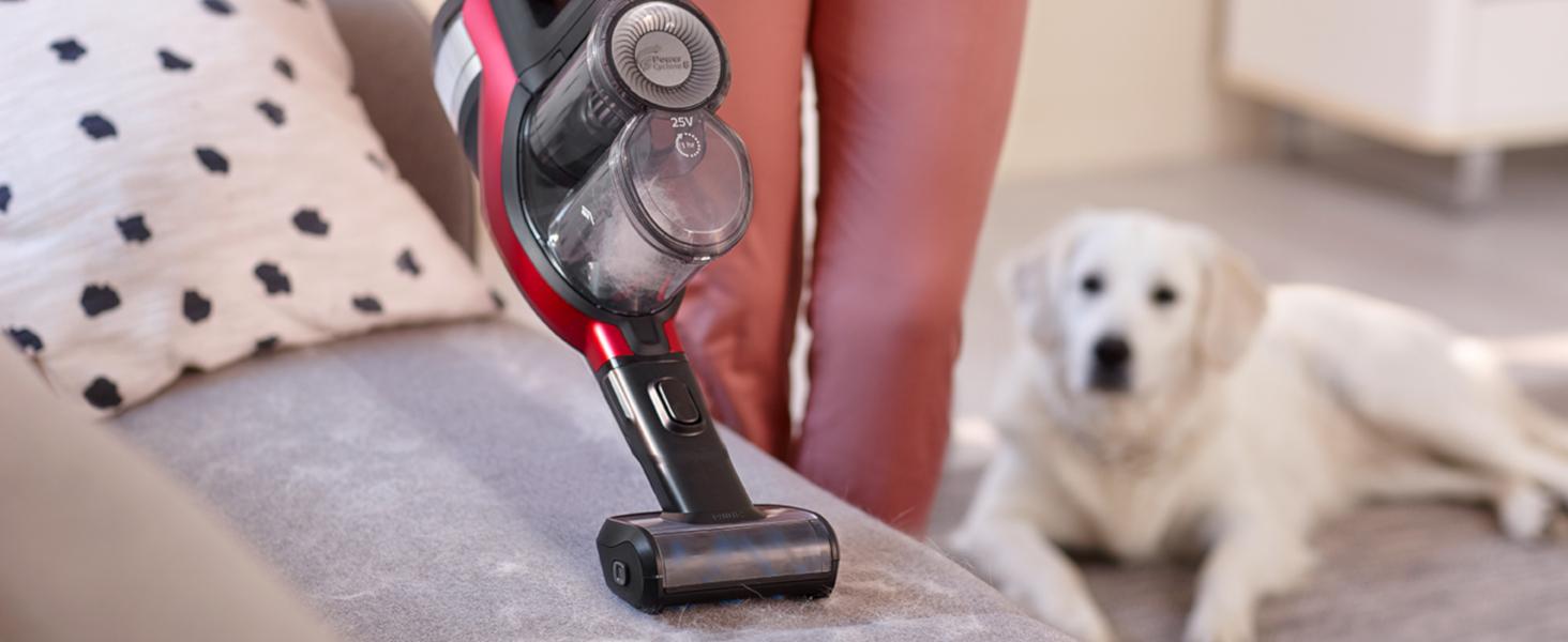 Philips Speedpro Max FC6823/01 - Escoba Aspiradora vertical de mano sin cable, 25.2 V, 65 min autonomía, Succión 360º, luz Led, con cepillo especial ...