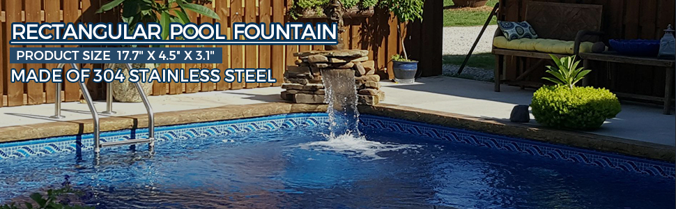 pool fountains for inground pools