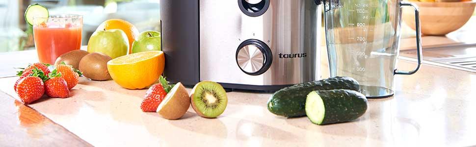 Taurus Liquafruits Pro-Licuadora centrífuga. 800 W. 2 velocidades ...