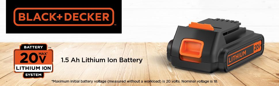 BLACK+DECKER 20V MAX Lithium Battery (LBXR20)