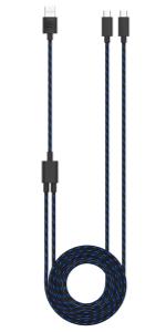 Surge DualCharge Cable, surge cable, surge usb-c cable, surge dual charge usb-c cable, ps5 charger
