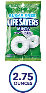 LIFE SAVERS Pep-O-Mint Sugarfree Mints Candy