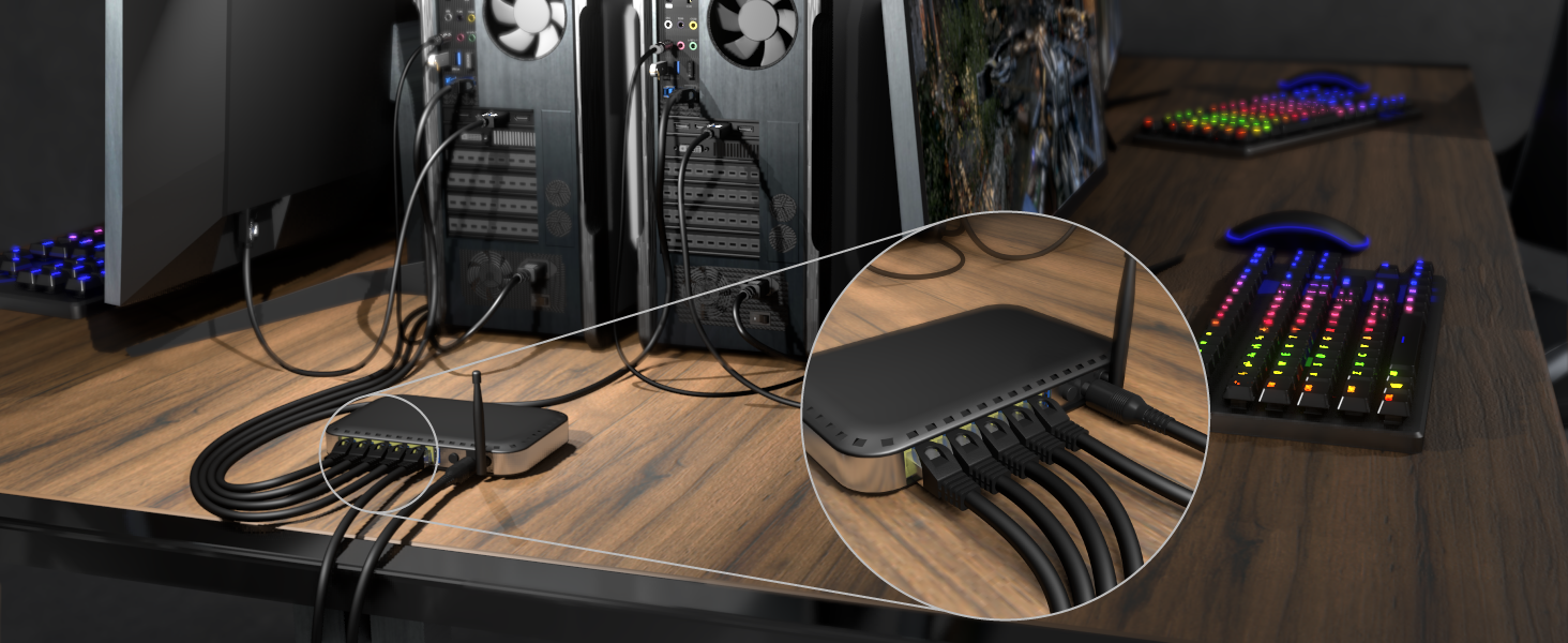 Kabeldirekt 5x 0 5m Netzwerk Ethernet Lan Patch Computer Zubehör