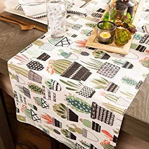 console plant table,urban kitchen table,cactus table runner,table runner small,décor runner, spring