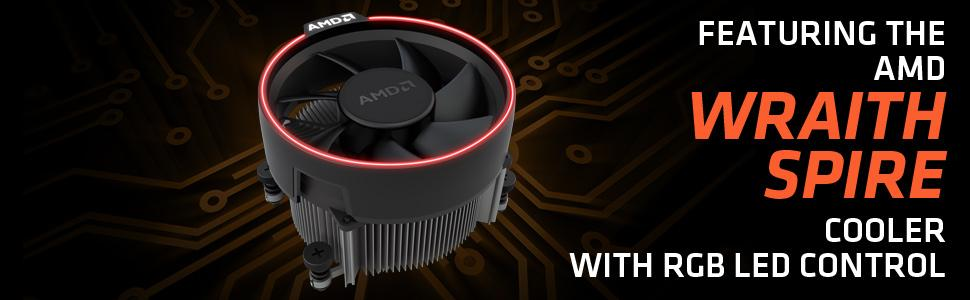 Amazon Com Amd Yd1700bbaebox Ryzen 7 1700 Processor With Wraith Spire Led Cooler Computers Accessories