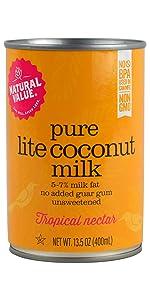 pure natural value lite coconut milk