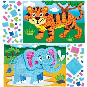 Jungle Animal Mosaic Crafts