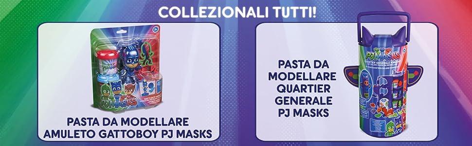 GG76151-Pj Masks Magic Pasta da modellare 5 Vasetti Grandi Giochi Multicolore GG76151