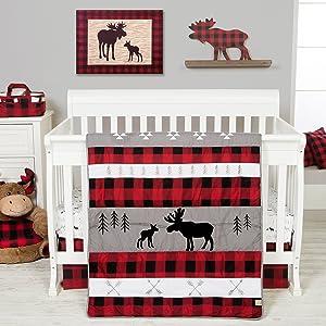 lumberjack crib bedding, lumberjack baby bedding, lumberjack nursery bedding
