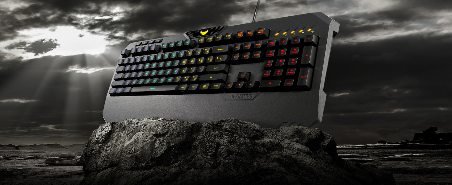 0d5616d6e62 Amazon.com: ASUS TUF K5 Mechanical Membrane RGB Gaming Keyboard with ...