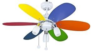 Interfan Ventilador Parchís, Multicolor: Amazon.es: Iluminación