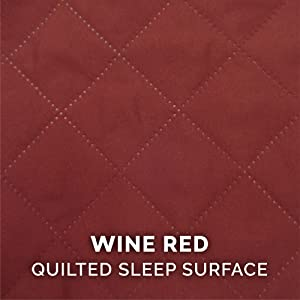 sleep; surface; quilted; stitching; polyester; wine; merlot; blood; red